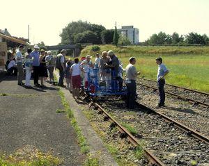 Cykling på nedlagt jernbane ved Vire