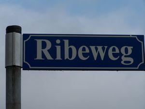 Ribeweg, gadeskilt i Barkenkam.
