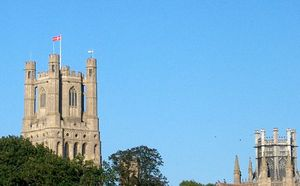Dannebrog på Ely Cathedral